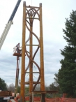 50' Fir Log Tower Frame